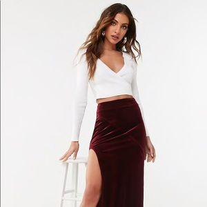 ✨Crushed Velvet Midi Skirt